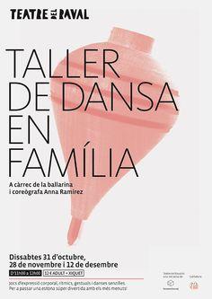 Cartel para el taller de danza en familia del Teatro del Raval de Gandía. 2015 – Baptiste Pons, diseño