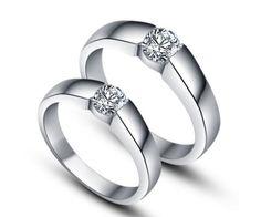 Love these rings. Simple, yet stunning. Engraved Wedding Rings, Wedding Ring Bands, Modern Engagement Rings, Diamond Engagement Rings, Wedding Engagement, Couple Bands, Beautiful Wedding Rings, Ring Designs, Rings For Men