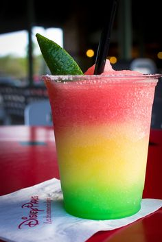 Stop Light Margarita... mix of melon, strawberry, and lime flavors