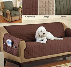 100/% Microfiber Reversible Couch and Pet Protector Slip Cover Chocolate//Sage