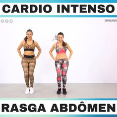 Training cardio and abdomen - Fitness 300 Workout, Gym Workout Videos, Gym Workouts, At Home Workouts, Weekly Workout Routines, Squat Workout, Fitness Workout For Women, Body Fitness, Physical Fitness