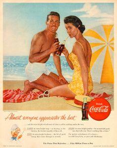 1950s Advertisements 50여년이 훌쩍 넘은 광고 포스터 임에도 불구하고 오늘날의 포스터와 같이 헤드라인 바디카피가 있고 자사의 로고까지. 어떻게 보면 당연하지만 50년전이나 그 후나 광고란 어김없이 돌고돈다라는 생각을 개인적으로 하게된다. 결국 이러한 포스터가 이 현대시대에 또 다시 돌아와 각광 받지 않을까싶다