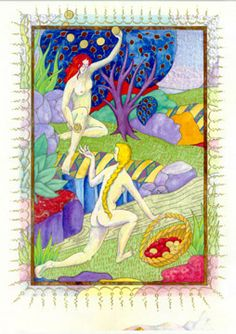 "Dory West--Original artwork ""Sisters"" from ""HORAE, a Women's Book of Hours"""