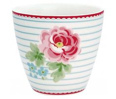 """GreenGate Latte cup """"Lily"""" white"""