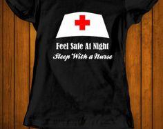 Sleep with a nurse funny t-shirt tee shirt tshirt Christmas family nurse nursing doctor hospital women's women ladies girlfriend woman fun