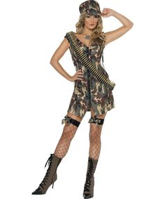 Smiffys Womens Army Girl Costume Dress Hat Troops Serious Fun Size 1416 33829 >>> Click picture to assess even more details. (This is an affiliate link). Army Girl Costumes, Army Costume, Dress Up Costumes, Dress Hats, Costumes For Women, Army Fancy Dress, Military Women, Military Soldier, Military Army