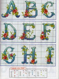 L'angolo di Malù 3: Alfabeti con fiori