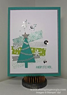 Another Christmas Card Idea Using Festival of Trees! Complete details on my blog! www.stampingeorgia.com