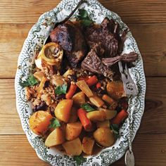 Cholent (Beef Stew) | The recipe for this slow-cooked dish of beans, brisket, and vegetables was inspired by one that András Singer serves at Fülemüle, his restaurant in Budapest. | From: saveur.com