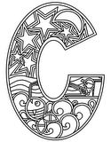 Download, print, color-in, colour-in lowercase c 2