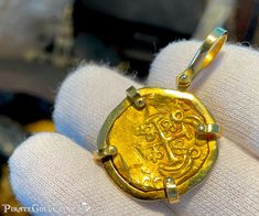 Pirates Gold, Gold Coins, Pendant Jewelry, Fisher, Bronze, Personalized Items, Coins
