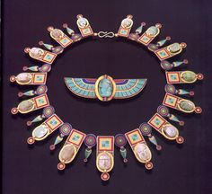 This necklace and brooch by Alessandro  Castellani, in the Egyptian Revival Style was sold at Sotheby's Auction  i