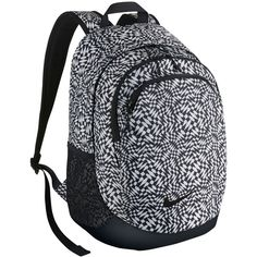 Nike Legend Backpack ($67) ❤ liked on Polyvore featuring bags, backpacks, accessories sport, sports fashion, womens-fashion, logo bags, mesh sport bag, backpack bag, zipper bag and sport bag