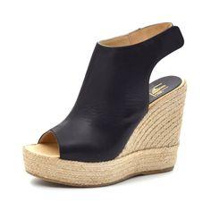 - Billi Bi espadrillos sandal sort skind