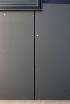 """the right side of the house rain screen hardie panel fiber cement """"iron gray"""" siding detail of mahogany Certainteed fiber cement siding T. House Cladding, Wood Cladding, Exterior Cladding, House Siding, Cladding Ideas, Cement Board Siding, Fiber Cement Board, Concrete Siding, Cladding Materials"""