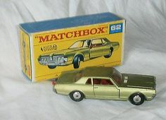 1960s.Lesney.Matchbox.62.Mercury Cougar.Spun Wheels.Mint In F Box.all Original - http://www.matchbox-lesney.com/37032
