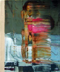 Nu em pé com bola rosa. 36 cm x 46 cm. óleo sobre tela. Taigo Meireles.2011