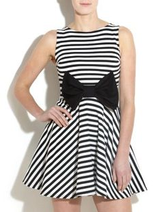 Te Amo Monochrome Bow Skater Dress