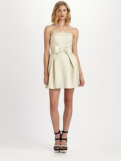 Rachel Zoe Nico Strapless Dress.  I love this dress and matching shoes!  If I was 2 sizes smaller, I'd get this... even at my age!