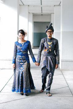 full songket peplum wedding dress survey baju pengantin