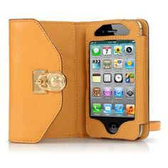 michael kors iphone clutch. orange