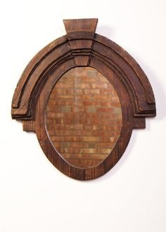 """Urbanest wood oval wall decor mirror.  Overall size: 26""""x23.5"""".  Mirror size: 16.5""""x12.5""""  3"""" depth.  No assembly required.  Additional Details ------------------------------  Package quantity: 1"""