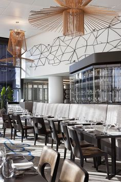 Restaurant at Crown Metropol Hotel, Melbourne, Australia by Bates Smart Architects