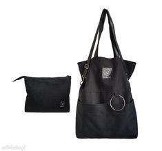 f6496671ee942 Duża czarna torba na ramię polskiej projektantki