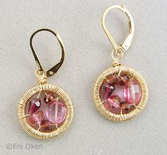 mini mosaic earrings from eni oken's jewelry