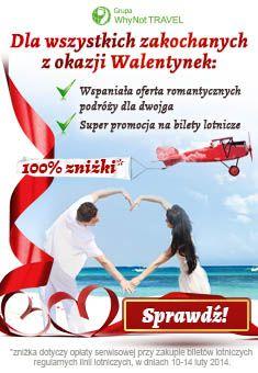 Why Not FLY z okazji Walentynek przygotował niebywałą promocję! Szczegóły na www.
