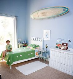 Surfboard on wall. YES!