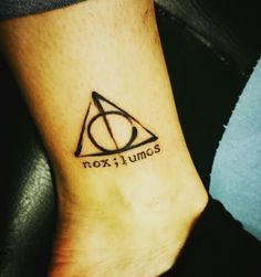 My HP deathly hallows tatto, combined with a semicolon, light and dark. Represent the difficult times I've been through. Choose to continue. Besides, I'm a nerd.