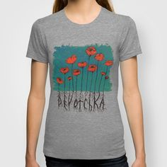 Devotchka Poppies T-shirt by Sophie Jewel - $22.00