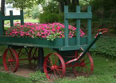 railroad cart- we have one just like this @ Rachel's Farmhouse