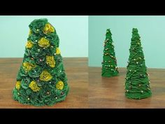 How to Make 2 Miniature Christmas Tree Projects - DIY & Crafts - Handimania