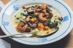 Shrimp and Cauliflower Grits with Hot Sauce Butter