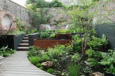 Bristol Garden, Small Yard Design, Landscape Design, Garden Design, Japanese Landscape, Family Garden, Small Space Gardening, Rustic Gardens, Terrace Garden