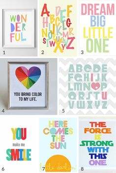 100 free nursery wall art printables!