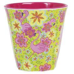 RICE Multicolour Melamine Cup Flamingo Print