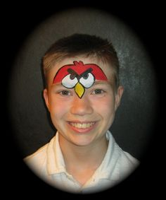 Schmink Angry bird / face paint www.hierishetfeest.com