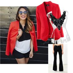 red blazer by mukta-sharma-chauhan on Polyvore featuring polyvore fashion style BDG