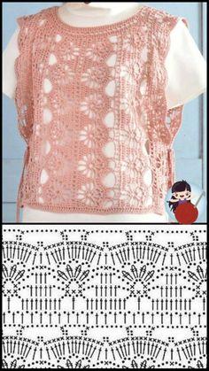Crochet Jacket, Crochet Tops, Crochet Cardigan, Summer Blouses, Knitting Stitches, Cute Tops, Crochet Clothes, Macrame, Free Pattern