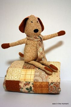 Dog Blog Plushie Pattern by Sew in the Moment - Plushiepatterns.com #plushie #freepattern