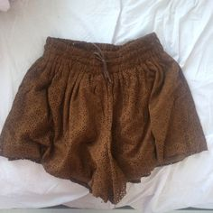 LF Cognac Flowy Shorts Super cute flowy shorts! Brand new with tags! Brand is 'One Way', purchased from LF. Size 8 but fits me and I'm a small. They're also super stretchy.  Price negotiable.  LF Shorts