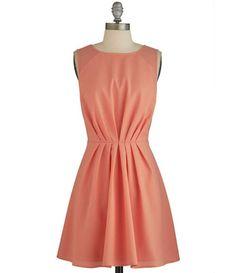 TW_5043 Short Peach Dress