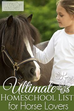 Do you have a horse lover in your home? He/she will love this HUGE list of homeschool resources to explore their love of all things horses. You'll find horse printables, horse copywork, horse unit studies and more!