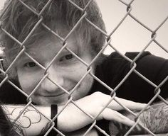 ed + fence Yyaaayyyy I can't not smile at you