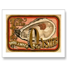 Fresh Oysters Vintage Baltimore Ad circa 1870 Post Cards In our offer link above you will seeDiscount Deals Fresh Oysters Vintage Baltimore Ad circa 1870 Post Cards Online Secure Check out Quick and Easy. Vintage Labels, Vintage Ads, Vintage Signs, Vintage Prints, Vintage Packaging, Photo Postcards, Vintage Postcards, Fresh Oysters, Vintage Type