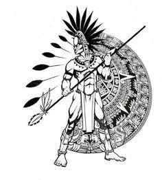 Aztec Tattoo Design - see more designs on https://thebodyisacanvas.com
