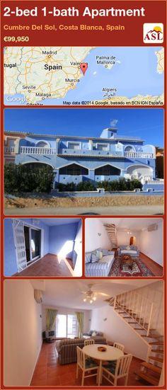 2-bed 1-bath Apartment in Cumbre Del Sol, Costa Blanca, Spain ►€99,950 #PropertyForSaleInSpain